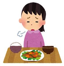 食欲のない女性